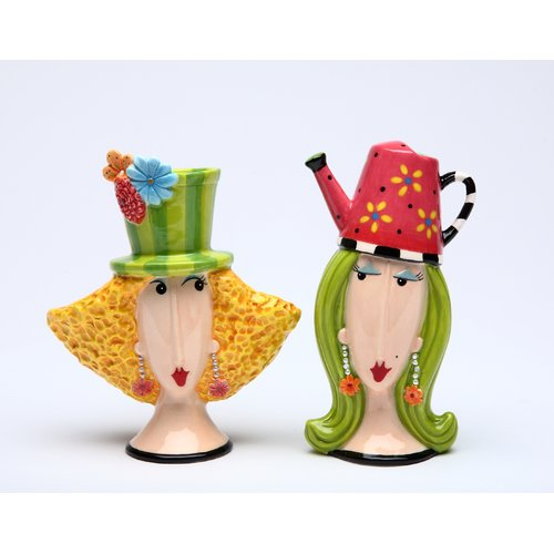 Cosmos Gifts Garden Lady Salt and Pepper Set