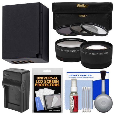 Limited Offer Essentials Bundle for Fuji X-A1, X-A2, X-E2, X-E2S, X-M1, X-T1, X-T10 with 16-50mm, 18-55mm Lens with NP-W126 Battery & Charger + 3 Filters + Tele/Wide Lenses + Kit Before Too Late