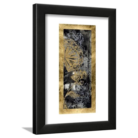 Embellished Gilded Fleur II Framed Print Wall Art By Jennifer Goldberger