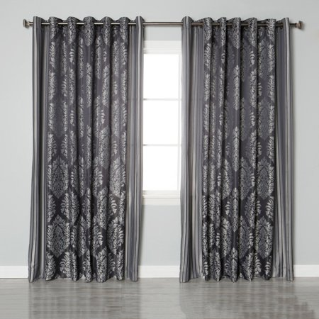 Best Home Fashion Wide Damask Jacquard Grommet Curtain