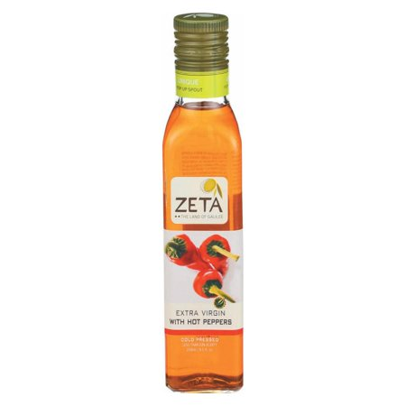 Zeta Oil Olive Oil - Extra Virgin - Hot Pepper - pack of 6 - 8.5 Fl Oz
