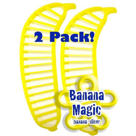 2 Pack Banana Slicer Cutters * Banana Magic * Kitchen Tool - Handy Gadget instantly slice chop banana chips no knife necessary ! Handy Kitchen Gadgets