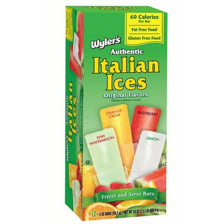 Popsicle Cocktails (Wyler's Italian Ice Original Freezer Pops, 12 count, 2)