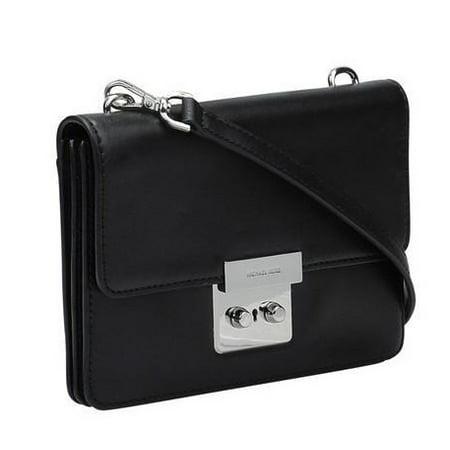de1a1af77ab614 Michael Kors - Sloan Small Calf Leather Crossbody - Black - 32S6SSLC4L-001  - Walmart.com