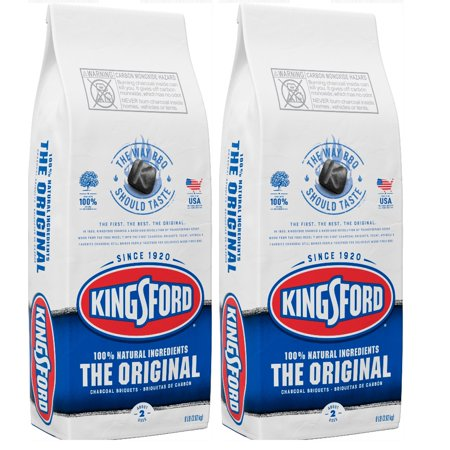 (2 pack) Kingsford Original Charcoal Briquettes, BBQ Charcoal for Grilling 8