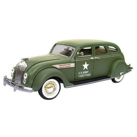 1936 Chrysler Airflow US Army Issued, Green - Signature Models 32519 - 1/32 Scale Diecast Model Toy Car Us Army Standard Issue