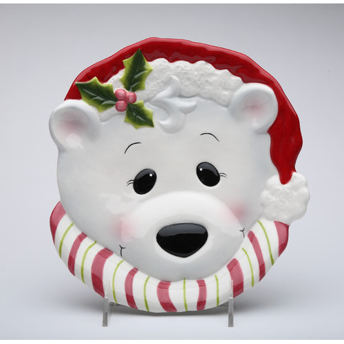 Cosmos Gifts Polar Bear Plate (Set of 4)
