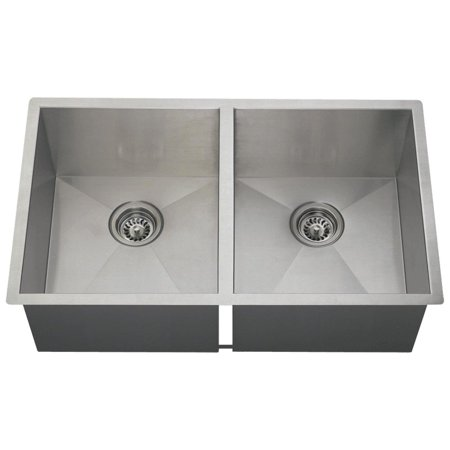 MR Direct 3322D 16 Gauge Undermount Stainless Steel 32 in Double Bowl