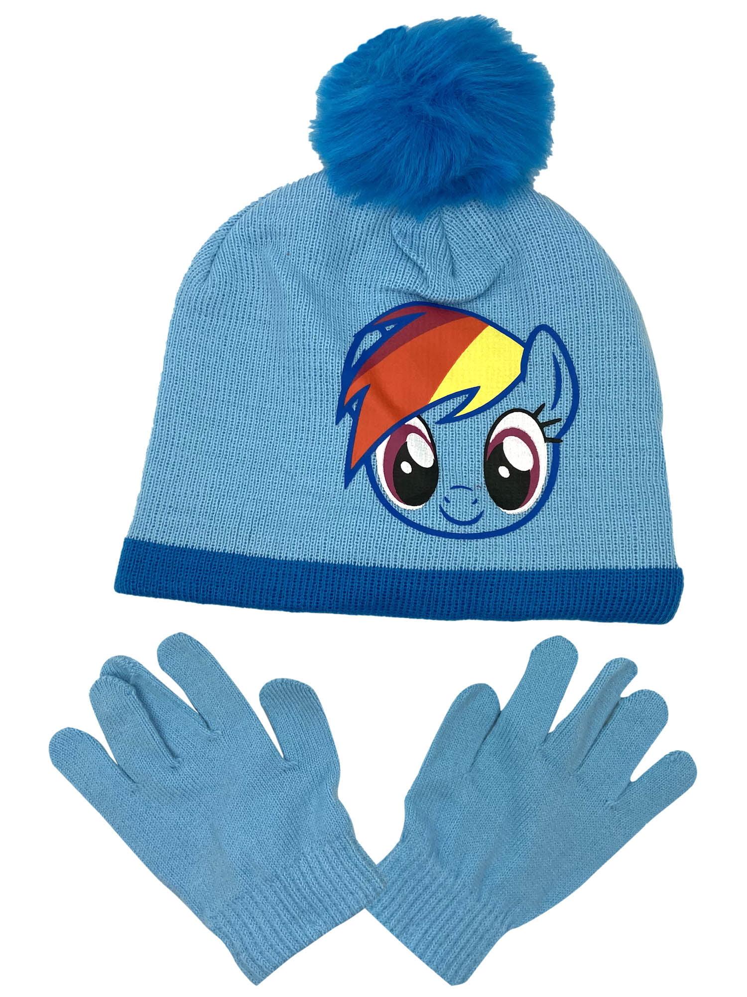 Girls LOL Surprise Blue Beanie /& Glove Set