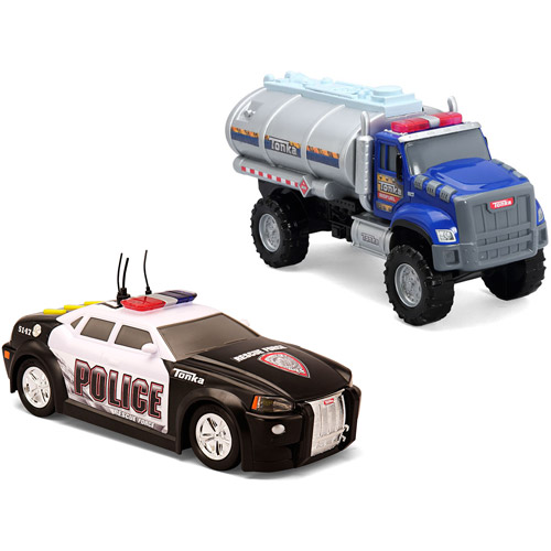 Tonka Rescue Force Police Cruiser and Tough Cab Tanker Play Set