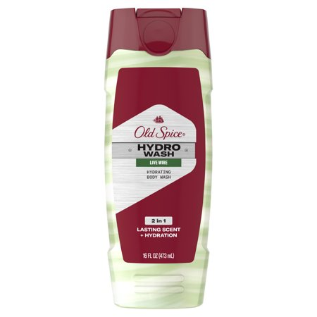 Old Spice Hydro Wash Body Wash for Men Hardest Working Collection Live Wire, 16 oz