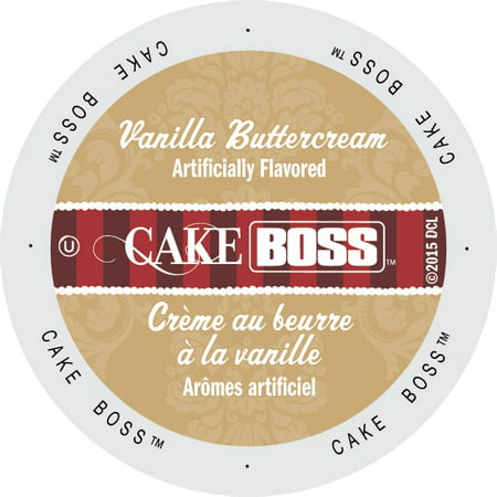 Cake Boss Coffee Vanilla Buttercream, Single Serve Cup Portion Pack for Keurig K-Cup Brewers, 24 Count ()