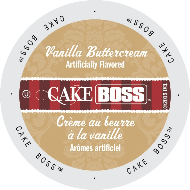 Cake Boss Coffee Vanilla Buttercream, Single Serve Cup Portion Pack for Keurig K-Cup Brewers, 96 Count