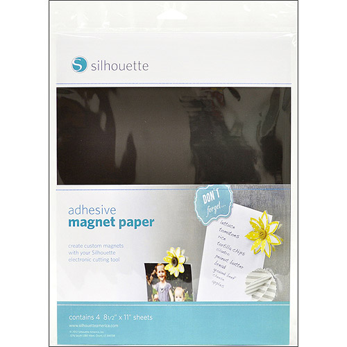 "Silhouette Adhesive Magnet Paper, 8-1/2"" x 11"", 4/pkg"