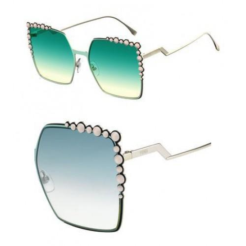 Fendi FF 0259/S 01ED Square Green Sunglasses