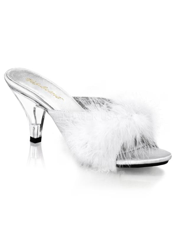 """BEL301F/W/SAT Fabulicious Shoes 3"""" Belle WHITE Size: 16"""