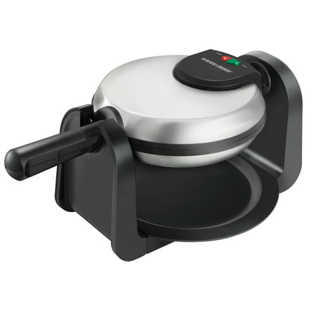 BLACK+DECKER Belgian Flip Waffle Maker, Black/Silver, WM1404S ()