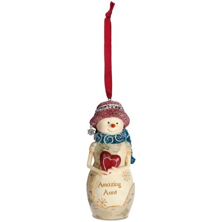 "Pavilion- ""Amazing Aunt"" Snowman Christmas Tree Ornament Decor Gift"