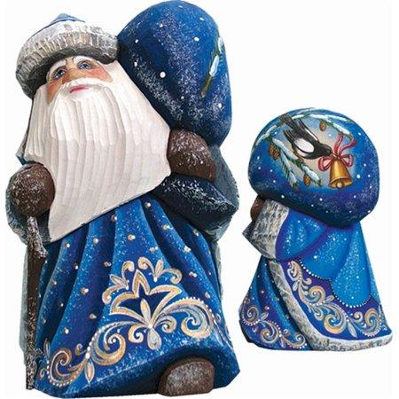 G.Debrekht 8215543 Woodcarving Midnight Chorus 6 in. - Woodcarved Santa