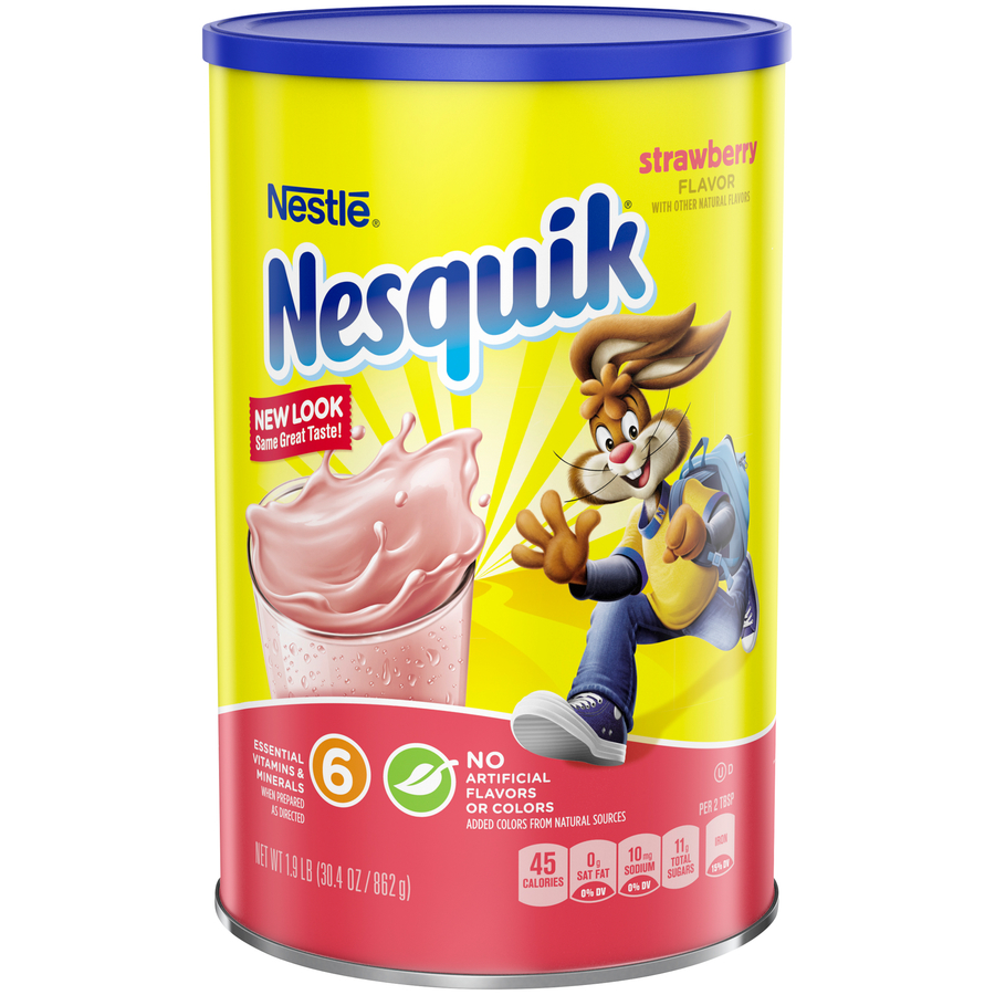 Nestle Drink Mix, Strawberry, 30.4 Oz, 1 Count