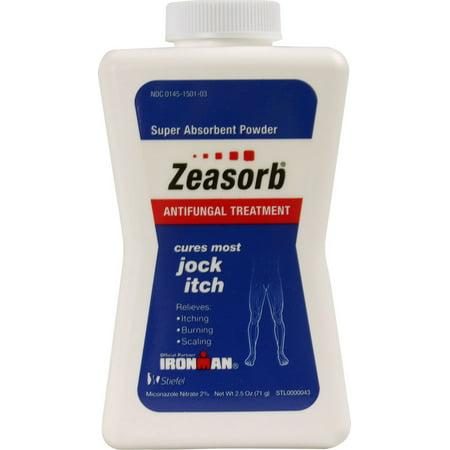 2 Pack - Zeasorb-AF Super Absorbent Antifungal Treatment Powder for Jock Itch 2.5