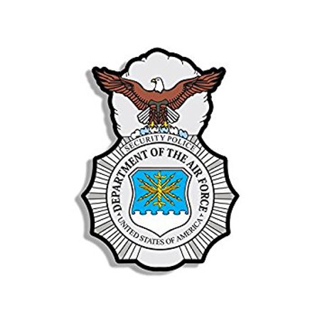 Air Force Security Police Logo Shaped Sticker Decal (badge insignia) Size: 4 x 4 inch](Police Badge Stickers)