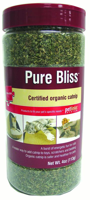 Petlinks Pure Bliss 4oz Organic Catnip Shaker Canister by Worldwise, Inc