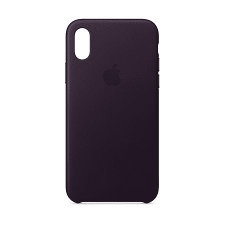 the best attitude 32e03 dc028 Apple Leather Case for iPhone X - Black
