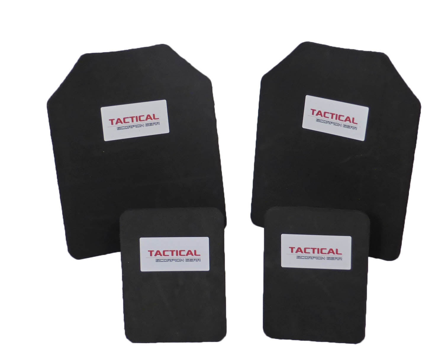 Tactical Scorpion 10mm Paintball Airsoft Pair 10x12+6x8 Protective Vest Plates by Tactical Scorpion Gear