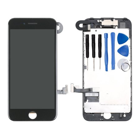 new style 2502b 72c64 Ayake Full Display Assembly for iPhone 7 Black LCD Screen Replacement with  Front Facing Camera and Speaker Pre-Assembled (All Required Tools Included)