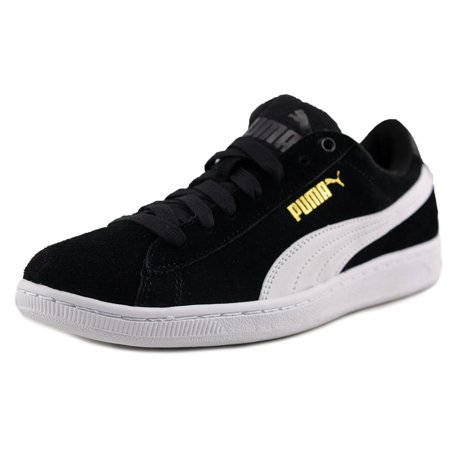 274be7205c2c PUMA - Puma Vikky Women Round Toe Canvas Black Sneakers - Walmart.com