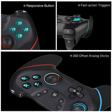 Wireless Controller for Nintendo Switch Pro,Remote Controller Gamepad Joypad for Nintendo Switch Console w/ Gyro Axis, Turbo Dual Vibration - image 3 of 9