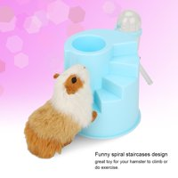 Ymiko Hamster Play Exercise House Cage with Feeding & Drinking Container Spiral Staircases , Hamster Play House with Feeding , Hamster Play House with Spiral Staircases