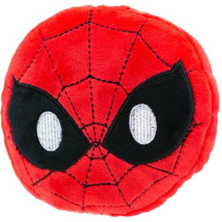Dog Sized Spider (Dog Toy Plush Spider Man Face Emoji Red Black)