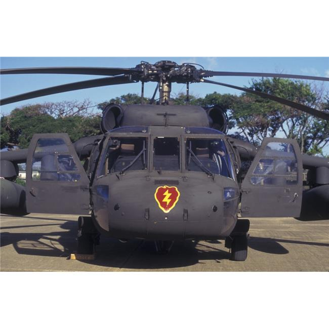 StockTrek Images PSTWOD100156M Front View of An Army Hh-60 Helicopter On Display During The Rimpac Exercise Military Demonstration On Ford Island At Pearl Harbor Naval Station On Oahu Hiawaii Poster P - image 1 of 1