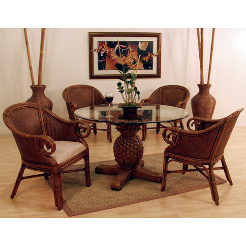 Hospitality Rattan Sunset Reef 5 Piece Dining Set
