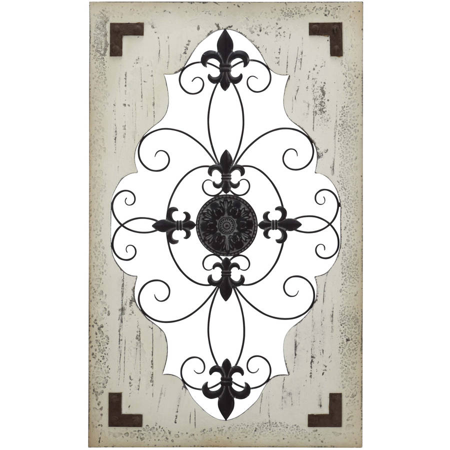 Decmode Wood and Metal Wall Decor, Multi Color