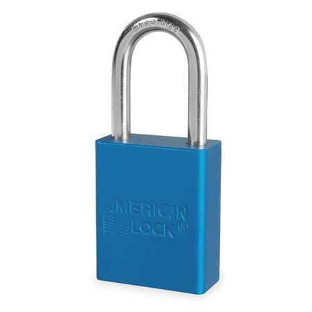 AMERICAN LOCK A1106BLU Lockout Padlock,KD,Blue,1-7/8