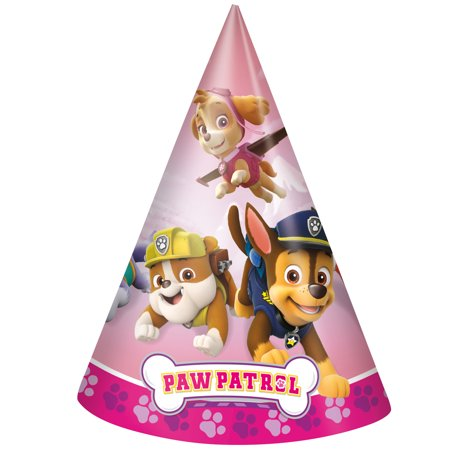 - Skye PAW Patrol Party Hats, 8ct