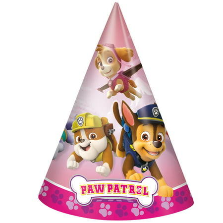 Skye PAW Patrol Party Hats, 8ct