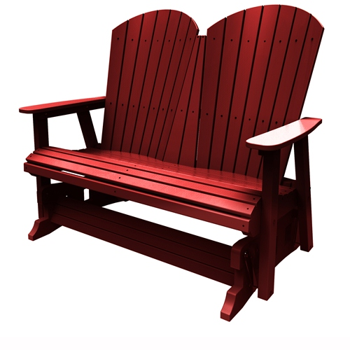 Double Glider by Malibu Outdoor - Hyannis, Red