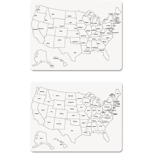 "Creativity Street Two-Sided U.S. Map Whiteboard, 24"" x 18"""