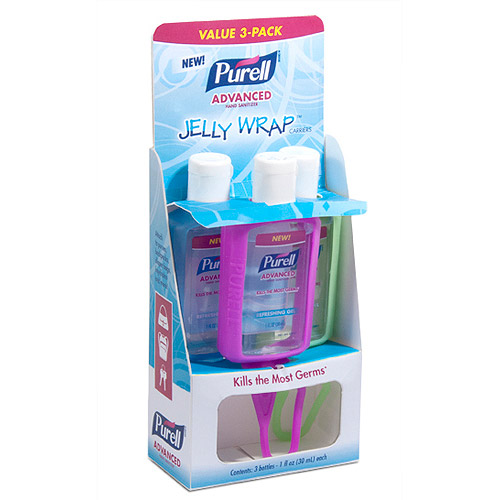 PURELL Advanced Refreshing Gel Hand Sanitizer Jelly Wrap Carriers, 1 fl oz, 3 count