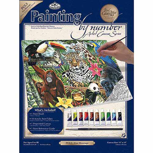 "Royal Brush Paint By Number Kits, 11"" x 14"""