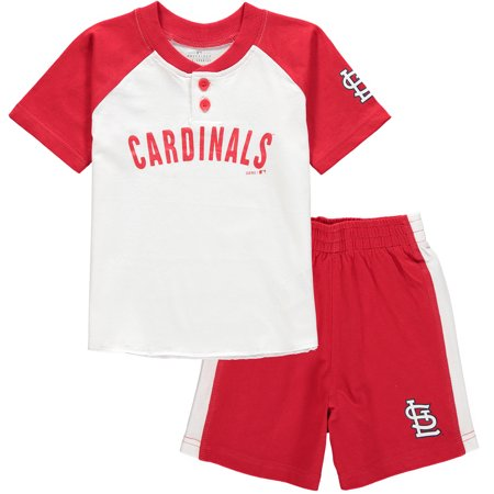 St. Louis Cardinals Toddler Good Hit Henley T-Shirt & Shorts Set - White/Red](St Pattys Outfits)