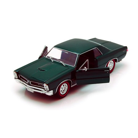 1965 Pontiac GTO, Green - Welly 22092 - 1/24 scale Diecast Model Toy