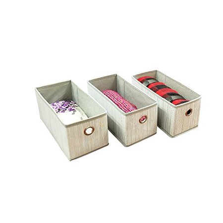 Adorn Home Essentials| Foldable Closet Fabric Drawer| Fits as Drawers for any Adorn 10 Tier Closet Organizer| Set of 3 Baskets, for Clothing, Accessories, Shoes and Home Essentials ()