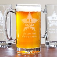 Personalized Giant #1 Beer Mug, 25 oz