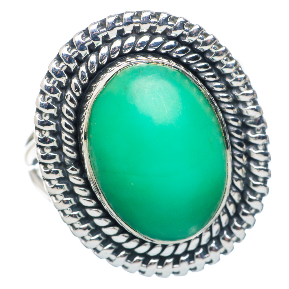 Ana Silver Co Chrysoprase Ring Size 8 (925 Sterling Silver) Handmade Jewelry RING883642 by Ana Silver Co.
