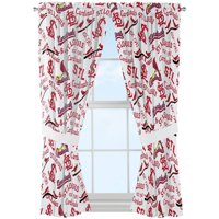 Product Image Mlb St Louis Cardinals Timeline Window Curtain Panels